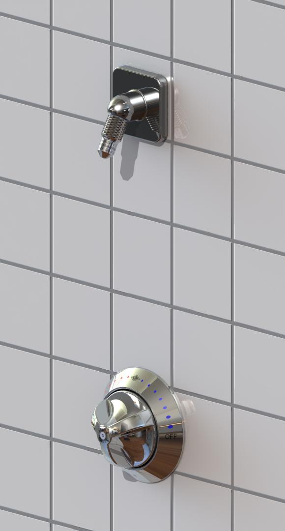 Ligature Resistant Shower Head 2-3//8 D ACORN  CSH25